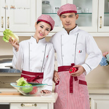 Long Sleeve White Chef Uniform Chinese Hotel Restaurant Service Chef Jacket Winter Men Women Double Breasted Kitchen Work Coat 8