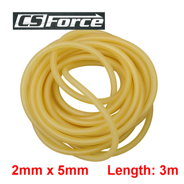 CS Force 2mm x 5mm Rubber Slingshots Catapult Rubber Tube 3m Band for Slingshot Hunting Elastic Latex Stretch Tube 2050