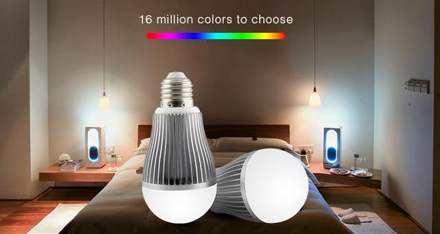 Mi light 9w led bulb lamp 2.4g e27 smart mobile phone wifi led light