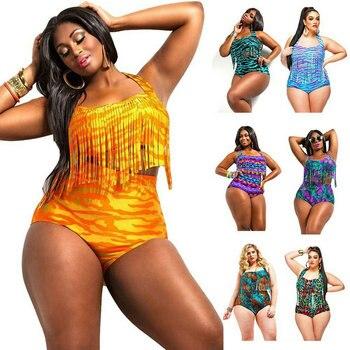 Print Tassel Bikini
