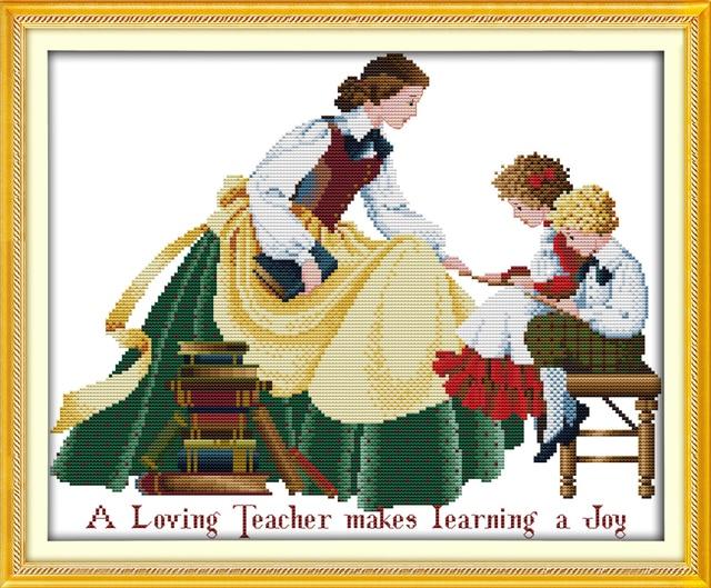 A Loving Teacher Makes Learning A Joy Cross Stitch Kit18ct 14ct 11ct