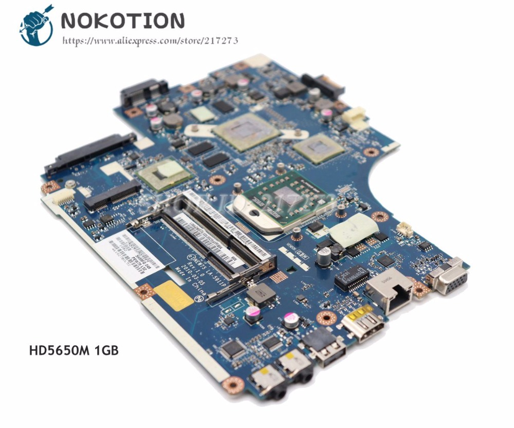 NOKOTION Laptop Motherboard For Acer aspire 5551G 5552G MAIN BOARD MBR4302001 NEW75 LA-5911P DDR3 Free CPU 9 cells battery for acer aspire 4741zg 5251 5551g new75 5742z 5552g 7741g ms2313