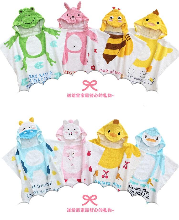 hot sale 100 cotton baby beach gown child bathrobe beach towels baby cloak cape baby - Beach Towels On Sale