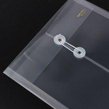 Ограниченное предложение Балык 3 шт./компл. водонепроницаемый обмотки прозрачная сумка файл утолщение данных мешок, завернутые веревку Билл хранения документов мешок