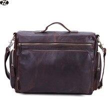 Heißer Verkauf wirklich rindleder mann handtaschen geschäfts echtes leder aktentasche männer schulter crossbody taschen männer messenger laptoptasche