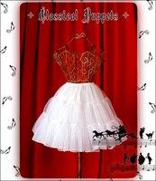 Lolita skirt classic dolls lolita filato di vetro antiscivolo 46 cm ultra lungo fodera donne pettiskirt di trasporto libero