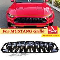 Adatto Per Ford Mustang griglia della griglia ABS gloss nero Rimontaggio di 1:1 Per Mustang Paraurti Anteriore Rene Griglie radiatore sportive Auto-Styling 18 +