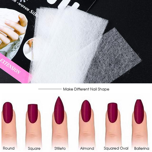 20pcs Nail Extension Silk Fiberglass