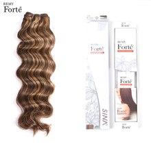 Remy Forte Hair Extension Brazilian Weave Bundles Loose Wave P4/27 Color 115g Virgin Vendors Single