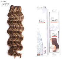 Remy Forte Hair Extension Brazilian Hair Weave Bundles Loose Wave Bundles P4/27 Color 115g Virgin Hair Vendors Single Bundles(China)