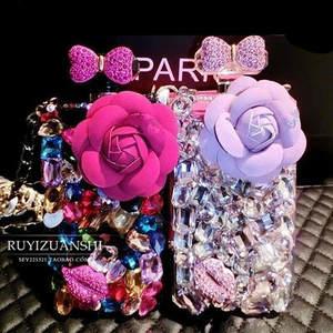 For Samsung Galaxy Note 5 E5 E7 Grand Prime G530 Flower Rhinestone Perfume  bottle 18da97cc2a3f