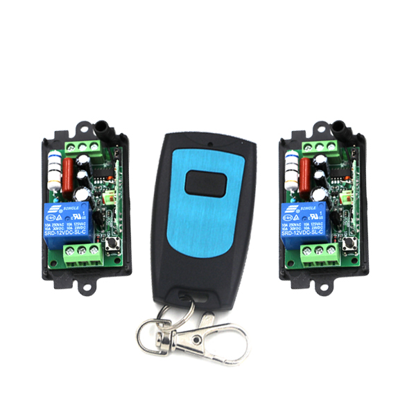 New AC 220V 1CH RF Wireless Remote Control Switch System,315/433 MHZ 1 waterproof Transmitter And 2 Receiver SKU:5012 wireless pager system 433 92mhz wireless restaurant table buzzer with monitor and watch receiver 3 display 42 call button
