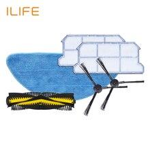 ILIFE V7S Запасный комплект для замены, робот пылесос аксессуар,  Фильтр * 2, швабра ткань * 2, боковые щётки * 2