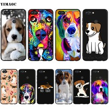 YIMAOC Beagle Cane Custodia In Silicone per Huawei Mate 10 P8 P9 P10 P20 Lite Pro P Y7 Y9 Smart Mini 2017 2018(China)