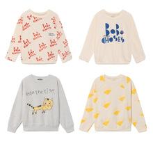 1-8Y Kids Boys Long Sleeve Girls T-shirts Tops Baby Sweatshirt Toddler Girls Cotton Tshirt Bobo Choses 2018 Autumn Winter New