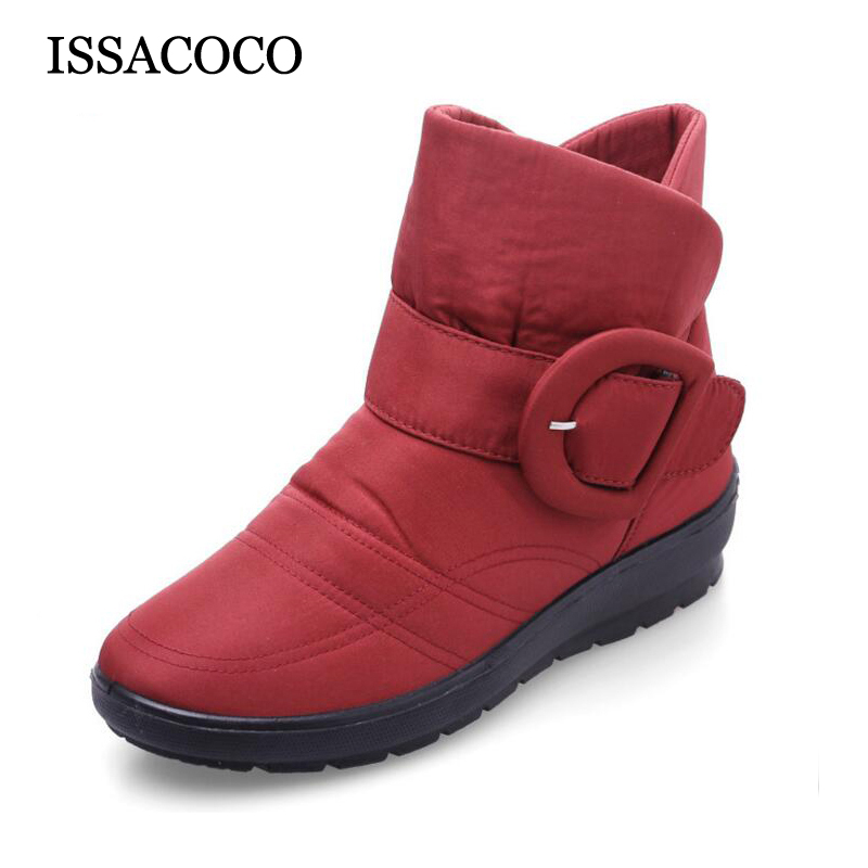 Women Snow Boots Winter New Arrival Women Flat Low Tube Boots with Plush Warm Cotton Shoes Waterproof Snow Boots Hot Sale 2017 new arrival hot sale women boots solid bowtie slip on soft cute women snow boots round toe flat with winter shoes wsz31