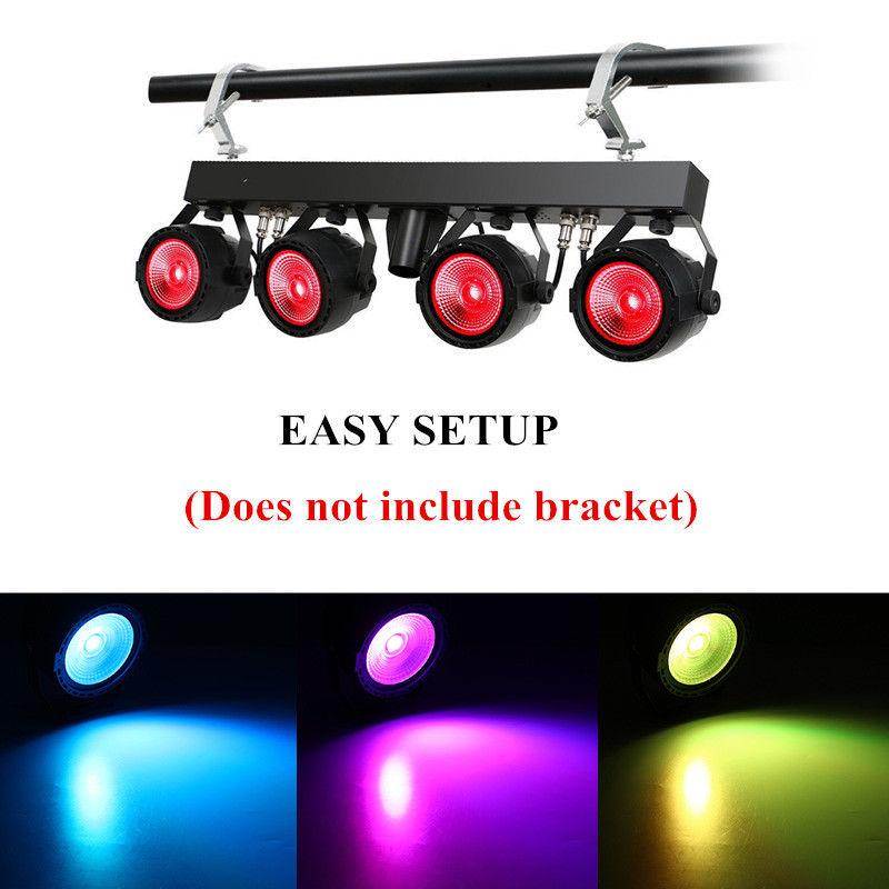 New 30W COB RGB Stage Light DMX Remote Control Par Light DJ 7 DMX Channels For Christmas Wedding Party Stage Lighting Effect