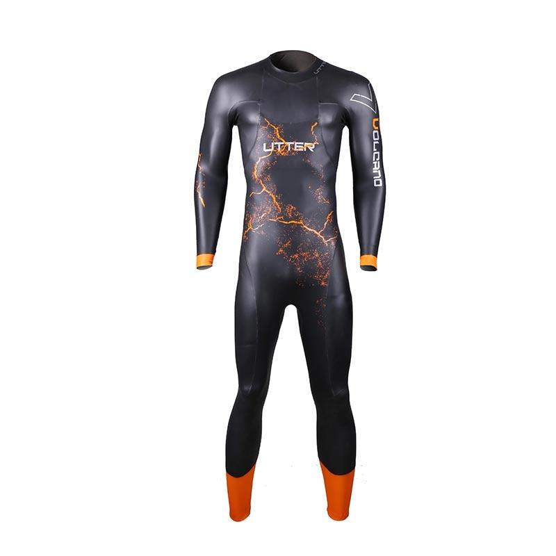 ASSOLUTA Vulcano Uomini SCS Triathlon Suit 5 MILLIMETRI Yamamoto In Neoprene Costume Da Bagno Manica Lunga Surf Muta Costumi Da Bagno per Costumi Da Bagno