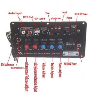 Image 5 - Lusya AC 220V Digital Bluetooth Stereo Amplificador Subwoofer Dual Microphone Karaoke Amplifiers For 8 12 Inch Speaker D2 004
