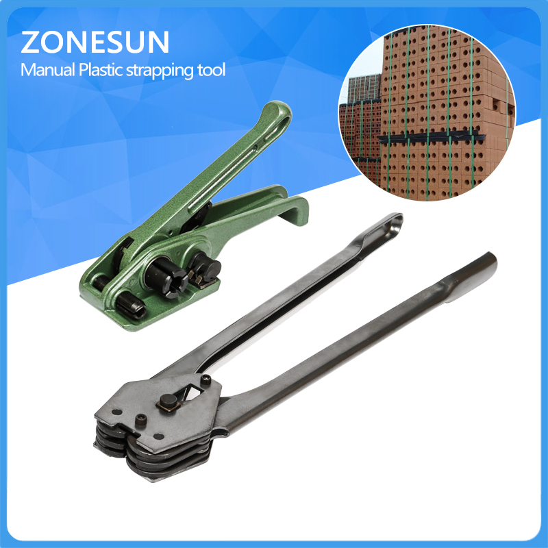 ФОТО ZONESUN Manual handed pp pet strapping sealer machine