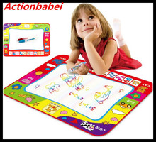 Actionbabei Hot sell Big size 80x60cm Water Drawing Toys Mat Aquadoodle Mat&1 Magic Pen/Water Drawing board/baby play toy gifts