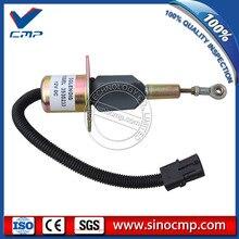 PC300-6 12v топливная заслонка Соленоидный клапан 3923680, SA-4818-12 для экскаватора Komatsu