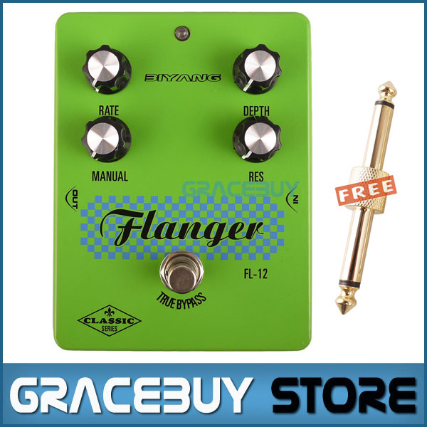 Guitar Effect Pedal Green Biyang Classic Versatile Flanger True Bypass Pedals For Guitarra New electric guitar pedal bass true bypass effect white custom biyang controls level top treble guitarra pedales new