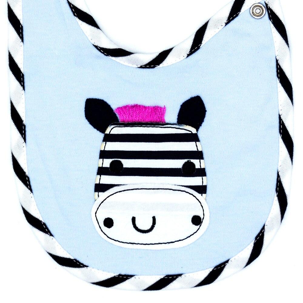 Детский слюнявчик унисекс, хлопок, милый слюнявчик для детей с рисунком зебры, слюнявчик для детей, у которых режутся зубы, детский душ, 1 упаковка