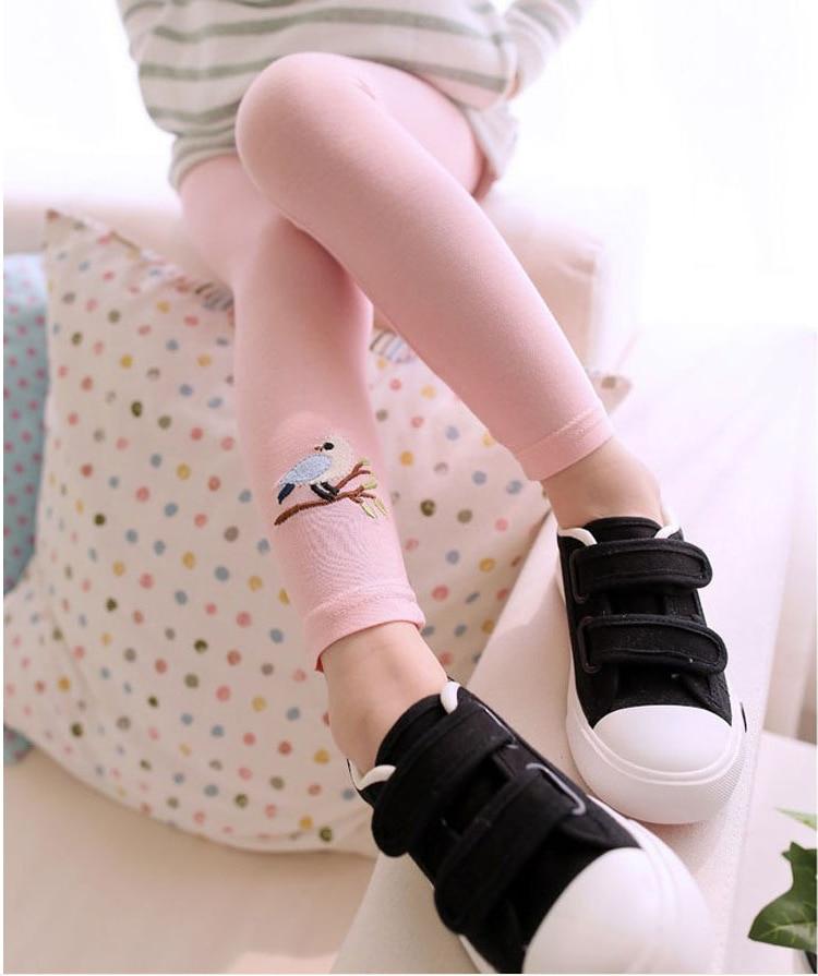 New Toddler Baby Girls Kids Skinny Pants Warm Leggings Girl Bird Pattern Stretchy Pants Trousers Hot 4