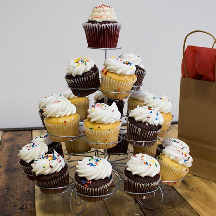 4 Tier 23 Tassen Desserts Cupcake Ständer Halter für Geburtstage ...