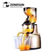 ZONESUN поколения оригинальная соковыжималка 100% медленно соковыжималка фрукты овощи цитрусовые низкая скорость соковыжималка