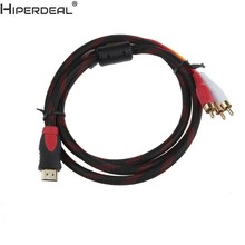 HIPERDEAL HDMI High Quality To 3 RCA 1.5m Cable Male Adapter Converter Cable For HDTV Oct30 HW(China)