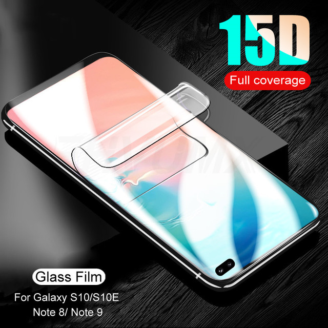 15D Curved Screen Protector Film For Samsung Galaxy S8 S9 S10 S6 S7 Edge Plus S10E S10 Lite Protective Film Not Tempered Glass