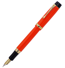 цена на Jinhao 15 Noble Orange Fountain Pen Medium Nib 0.7mm with Converter Metal Luxurious Ink Pens for Office,business,home,school
