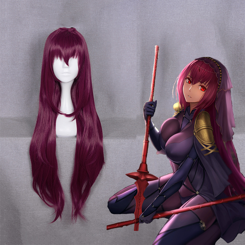 Anime Fate Grand Order Cosplay Wigs Scathach Cosplay Wig Women Wig Hair Halloween Party Heat Resistant Synthetic Wig