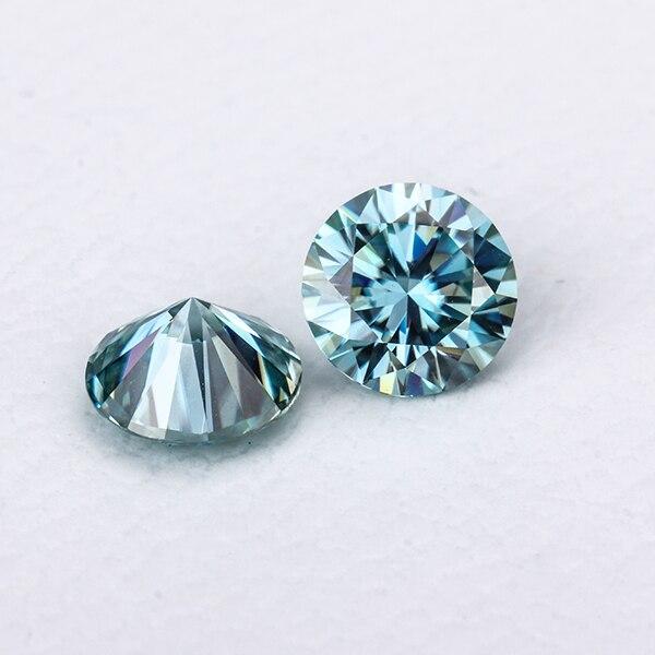 Свободный моиссанитовый камень 8 мм круглый 8 сердец и 8 стрел огранки моисаниты драгоценные камни синтезированные бриллианты камень синий