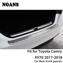 NOANS для Toyota Camry XV70 авто задний багажник дверь Бампер анти полоски от царапин аксессуары из нержавеющей стали