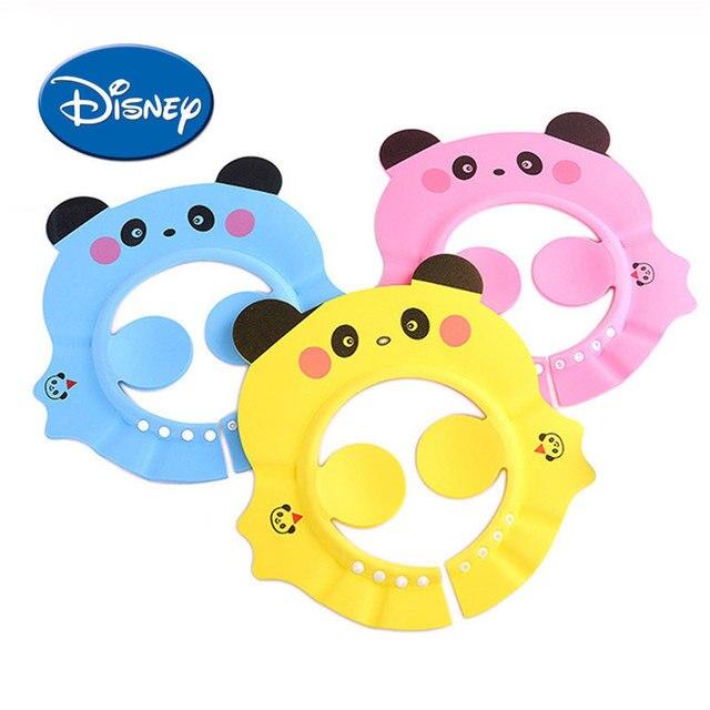 b6042cce DISNEY Children Cartoon Wash Hair Hat Baby Shower Hat Panda Fund Enlarge  Can Adjust Shampoo Baby Hat