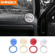 SHINEKA Newest Aluminum Decoration Cover Trim Air Conditioning AC Vent Outlet Ring Sticker for Suzuki Jimny Car Accessories