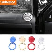SHINEKA новые алюминиевая отделка Крышка отделкой Кондиционер AC Vent кольцо выхода Стикеры для Suzuki Jimny автомобильные аксессуары