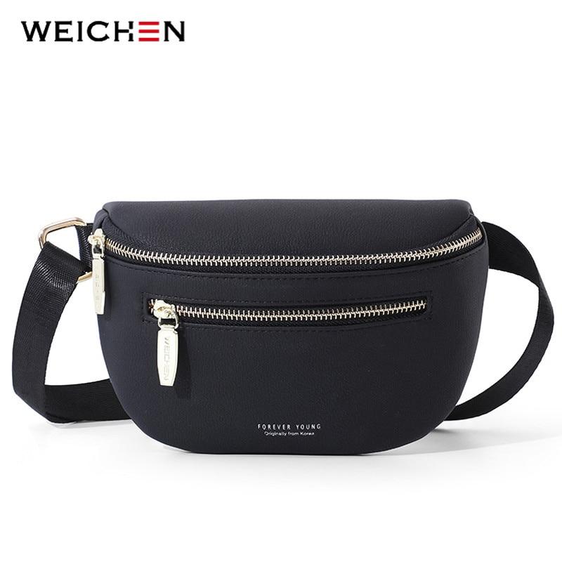 WEICHEN Multi-functiona Women's Fanny Pack Shoulder Bag And Chest Bag Female Belt Sac Women Waist Bag High Quality Ladies Bolsa