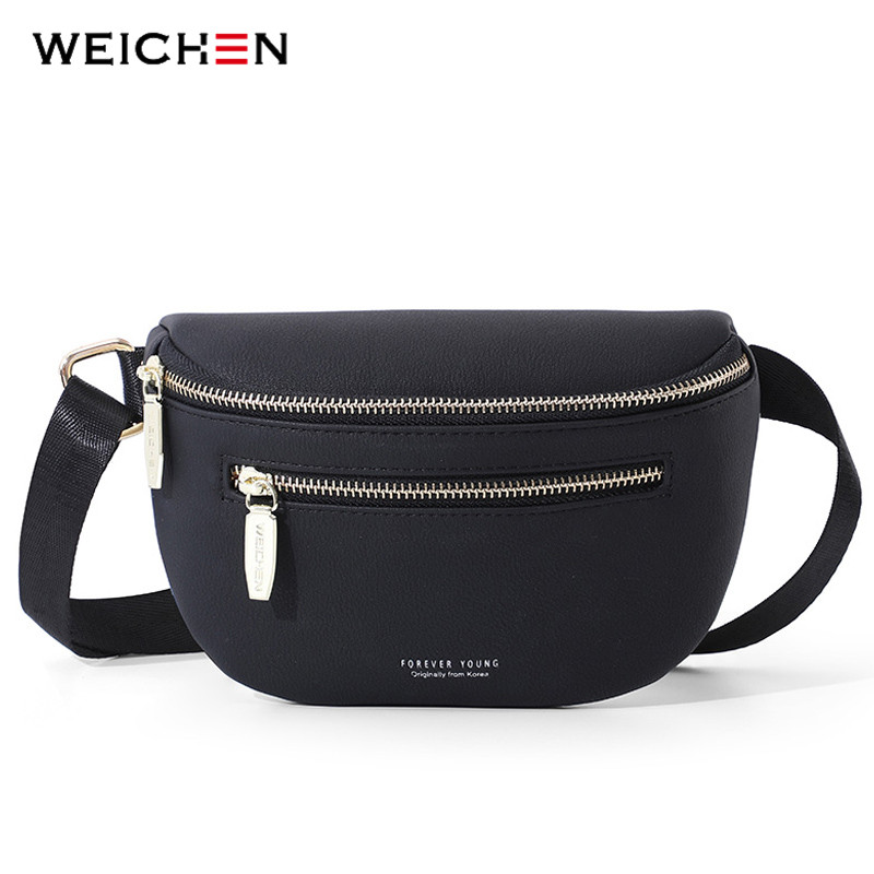 WEICHEN Multi-functiona Women's Fanny Pack Shoulder Bag And Chest Bag Female Belt Sac Women Waist Bag High Quality Ladies Bolsa