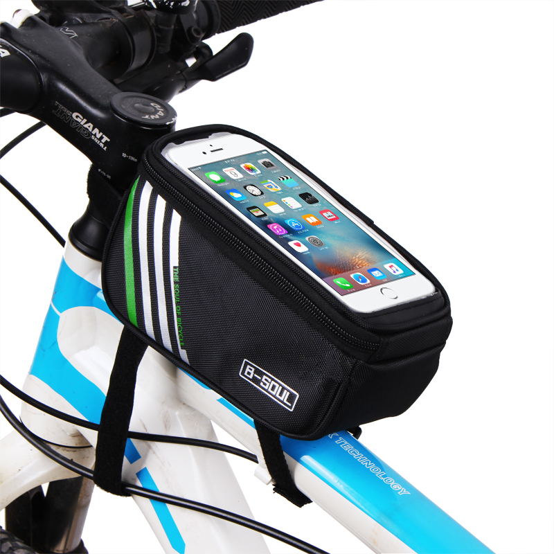 B-SOUL Cykel Mobiltelefon Pouch 5.7 tommer Touch Screen Top Frame Tube Storage Bag Cykel MTB Road Bike Bycicle