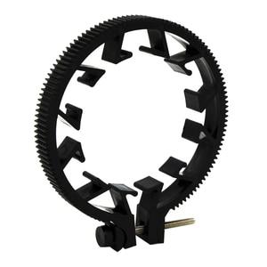 Image 4 - Ootdty abs plástico ajustável anel de engrenagem para follow focus belt 65 75 75mm para lente dslr mod 0.8