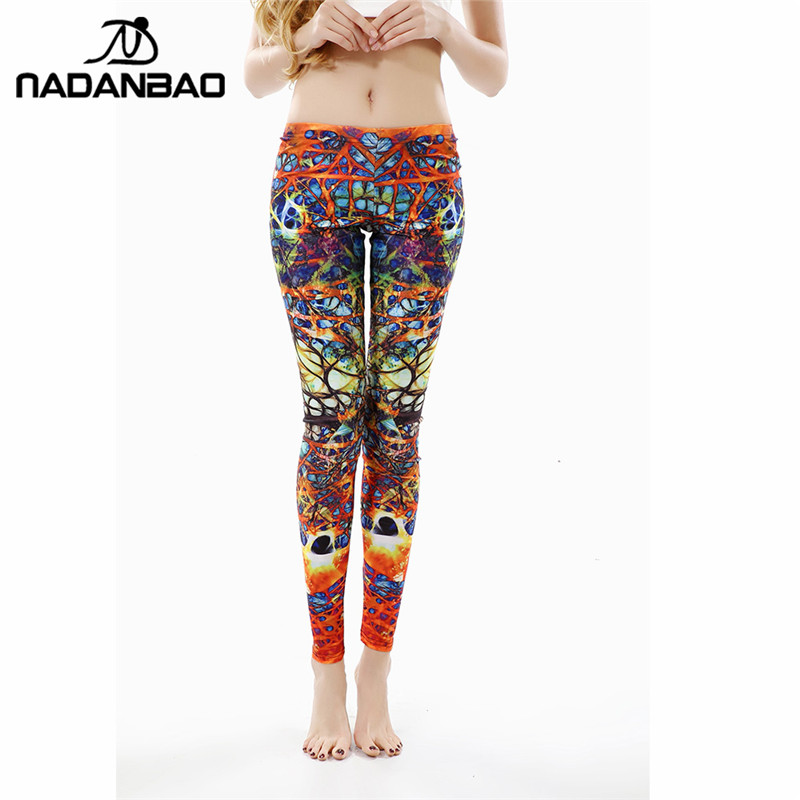 NADANBAO New Arrival Printed Women Leggings <font><b>Winding</b></font> <font><b>Roots</b></font> Leggins for Woman women pant