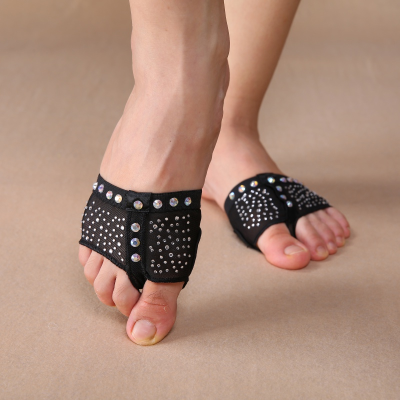 1 Pair Belly Dance Paws Diamond Half Lyrical Shoes Foot Cover Toe Undies S/M/L/XL