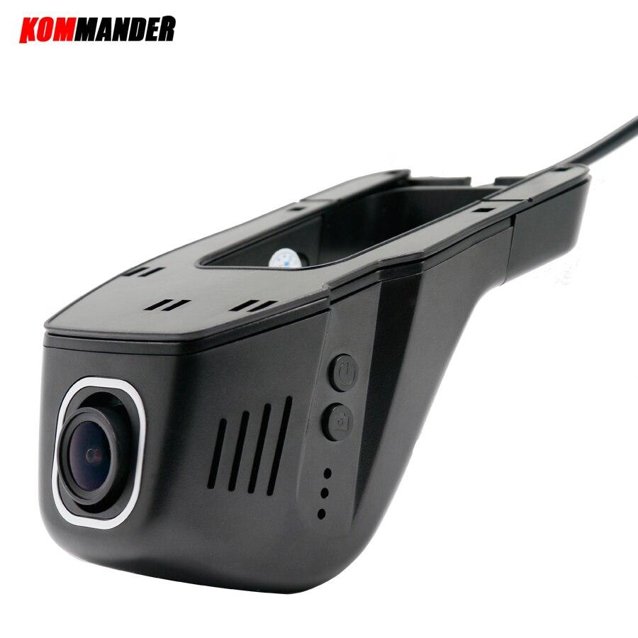 Kommander Hidden WIFI Car Dvr with no Screen Full HD 1080P for Car Dash WDR Night Vision Camera 160 Degrees Car Cameras