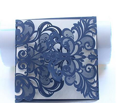 50pcs Sample Navy Blue Gray White Gold Black Laser Cut