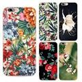 Flores de moda las cajas del teléfono para iphone 7 caso colorido grande hermoso flores soft tpu shell de la cubierta capa coque