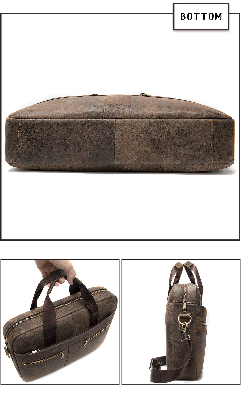 HTB1oo3Ca7T2gK0jSZPcq6AKkpXaY WESTAL Bag men's Genuine Leather briefcase Male man laptop bag natural Leather for men Messenger bags men's briefcases 2019